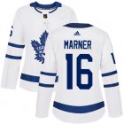 Cheap Adidas Maple Leafs #16 Mitchell Marner White Road Authentic Women's Stitched NHL Jersey