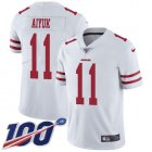 Cheap Nike 49ers #11 Brandon Aiyuk White Youth Stitched NFL 100th Season Vapor Untouchable Limited Jersey
