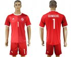 Cheap Danmark #1 Schmeichel Red Home Soccer Country Jersey