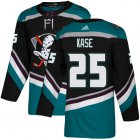 Cheap Adidas Ducks #25 Ondrej Kase Black/Teal Alternate Authentic Youth Stitched NHL Jersey