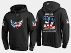 Cheap Capitals #32 Dale Hunter NHL Banner Wave Usa Flag Black Hoodie