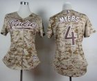 Cheap Padres #4 Wil Myers Camo Alternate 2 Women's Stitched MLB Jersey