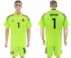 Cheap Colombia #1 Ospina Shiny Green Goalkeeper Soccer Country Jersey