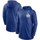 Cheap Los Angeles Dodgers Nike Split Logo Performance Long Sleeve Hoodie Top Royal