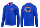 Cheap NFL Chicago Bears Team Logo Jacket Blue_1