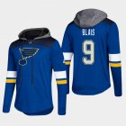 Cheap Blues #9 Scottie Sammy Blais Blue 2018 Pullover Platinum Hoodie