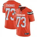 Cheap Nike Browns #73 Joe Thomas Orange Alternate Youth Stitched NFL Vapor Untouchable Limited Jersey