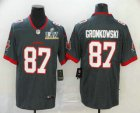 Cheap Men's Tampa Bay Buccaneers #87 Rob Gronkowski Grey 2021 Super Bowl LV Stitched Vapor Untouchable Stitched Nike Limited NFL Jersey