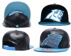 Cheap NFL Carolina Panthers Team Logo Black Reflective Adjustable Hat A102