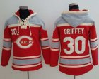 Cheap Reds #30 Ken Griffey Red Sawyer Hooded Sweatshirt MLB Hoodie