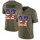 Cheap Nike Ravens #27 J.K. Dobbins Olive/USA Flag Youth Stitched NFL Limited 2017 Salute To Service Jersey