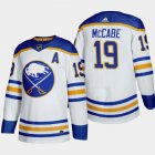 Cheap Buffalo Sabres #19 Jake Mccabe Men's Adidas 2020-21 Away Authentic Player Stitched NHL Jersey White