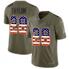 Cheap Nike Colts #28 Jonathan Taylor Olive/USA Flag Youth Stitched NFL Limited 2017 Salute To Service Jersey