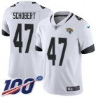 Cheap Nike Jaguars #47 Joe Schobert White Youth Stitched NFL 100th Season Vapor Untouchable Limited Jersey