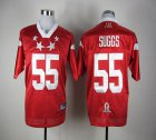 Cheap Ravens #55 Terrell Suggs Red 2012 Pro Bowl Stitched NFL Jersey
