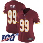 Cheap Nike Redskins #99 Chase Young Burgundy Red Team Color Women's Stitched NFL 100th Season Vapor Untouchable Limited Jersey