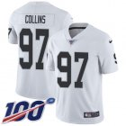 Cheap Nike Raiders #97 Maliek Collins White Youth Stitched NFL 100th Season Vapor Untouchable Limited Jersey