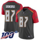 Cheap Nike Buccaneers #87 Rob Gronkowski Gray Men's Stitched NFL Limited Inverted Legend 100th Season Jersey