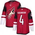 Cheap Adidas Coyotes #4 Niklas Hjalmarsson Maroon Home Authentic Stitched Youth NHL Jersey