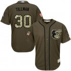 Cheap Orioles #30 Chris Tillman Green Salute to Service Stitched Youth MLB Jersey