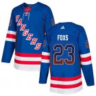 Cheap Adidas Rangers #23 Adam Foxs Royal Blue Home Authentic Drift Fashion Stitched NHL Jersey