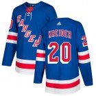 Cheap Adidas Rangers #20 Chris Kreider Royal Blue Home Authentic Stitched Youth NHL Jersey