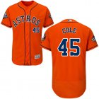 Cheap Astros #45 Gerrit Cole Orange Flexbase Authentic Collection 2019 World Series Bound Stitched MLB Jersey
