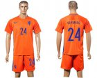 Cheap Holland #24 Vermeer Home Soccer Country Jersey
