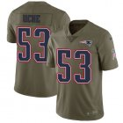 Cheap Nike Patriots #53 Josh Uche Olive Youth Stitched NFL Limited 2017 Salute To Service Jersey