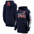 Cheap Houston Astros G-III 4Her by Carl Banks Women's Extra Innings Pullover Hoodie Navy