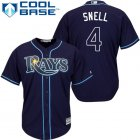 Cheap Rays #4 Blake Snell Dark Blue Cool Base Stitched Youth MLB Jersey