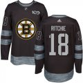 Cheap Adidas Bruins #18 Brett Ritchie Black 1917-2017 100th Anniversary Stitched NHL Jersey