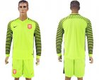 Cheap Holland Blank Green Long Sleeves Goalkeeper Soccer Country Jersey