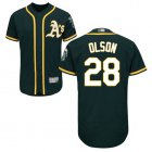 Cheap Athletics #28 Matt Olson Green Flexbase Authentic Collection Stitched MLB Jersey