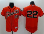 Cheap Giants #22 Will Clark Orange Flexbase Authentic Collection Stitched MLB Jersey