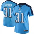 Cheap Nike Titans #31 Kevin Byard Light Blue Women's Stitched NFL Limited Rush Jersey