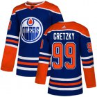 Cheap Adidas Oilers #99 Wayne Gretzky Royal Alternate Authentic Stitched Youth NHL Jersey