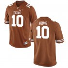 Cheap Men's Texas Longhorns 10 Vince Young Orange Nike College Jersey