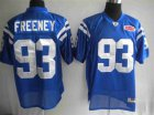 Cheap Colts #93 Dwight Freeney Blue With Super Bowl Patch Stitched NFL Jersey