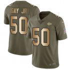 Cheap Nike Chiefs #50 Willie Gay Jr. Olive/Gold Youth Stitched NFL Limited 2017 Salute To Service Jersey