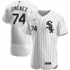 Cheap Chicago White Sox #74 Eloy Jimenez Men's Nike White Home 2020 Authentic Player MLB Jersey
