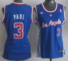 Cheap Los Angeles Clippers #3 Chris Paul Blue Womens Jersey