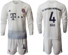 Cheap Bayern Munchen #4 Sule Away Long Sleeves Soccer Club Jersey