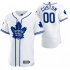 Cheap Toronto Maple Leafs Custom Men's 2020 NHL x MLB Crossover Edition Baseball Jersey White