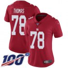 Cheap Nike Giants #78 Andrew Thomas Red Women's Stitched NFL Limited Inverted Legend 100th Season Jersey