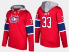 Cheap Canadiens #33 Patrick Roy Red Name And Number Hoodie