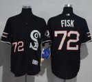 Cheap White Sox #72 Carlton Fisk Black New Flexbase Authentic Collection Stitched MLB Jersey