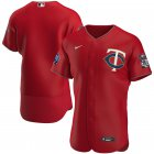 Cheap Minnesota Twins Men's Nike Red Alternate 2020 60th Season Authentic Team MLB Jersey