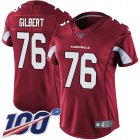 Cheap Nike Cardinals #76 Marcus Gilbert Red Team Color Women's Stitched NFL 100th Season Vapor Untouchable Limited Jersey