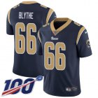 Cheap Nike Rams #66 Austin Blythe Navy Blue Team Color Men's Stitched NFL 100th Season Vapor Untouchable Limited Jersey